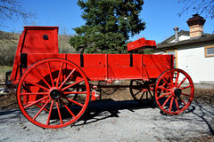 Historic Chuckwagon. Historic Red Chuckwagon used in the old west Royalty Free Stock Image