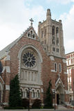 Historic Church. Beautiful old historic Church with brick and stone details Royalty Free Stock Photo