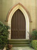 Historic Church Arched Door 2 royalty free stock photo