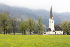 Historic church in Bavaria, Germany. In spring Stock Images