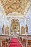 Historic church in Castro, Verde, Alentejo, Portugal. Royal Basilica in Castro Verde, in the Alentejo. Rebuilt during the first half of the eighteenth century Stock Photo