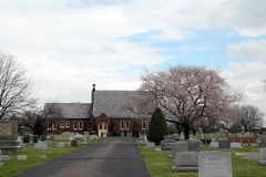 Historic Church in Cemetery royalty free stock images