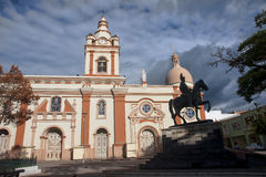 The historic church in the center of Loja royalty free stock image
