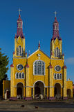 Historic Church of Chiloé Royalty Free Stock Photos