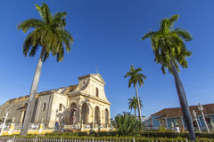 Historic church in the city of Trinidad, Cuba Royalty Free Stock Photography