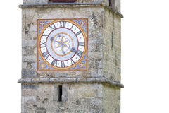 Historic church clock in Italy Royalty Free Stock Images