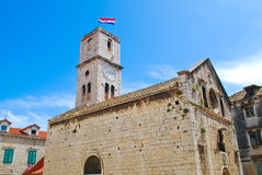 Historic church in Croatia, Balkans. Summer in Croatia, Balkans, Europe Stock Images