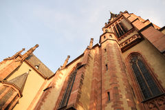 Historic Church in Frankfurt am Main Royalty Free Stock Photography