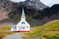 Historic Church at Grytviken in Antarctica. Stock Photo