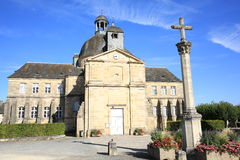 Historic church in Hautefort, Dordogne, France Royalty Free Stock Images