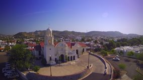Church aerial view stock video footage