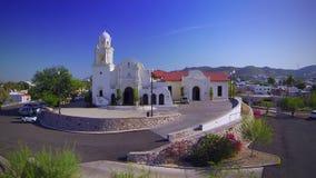 Church aerial view stock video