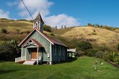 Historic Church in Kahakuloa Village. The sagging historic Church in Kahakuloa Village, Maui, Hawaii Royalty Free Stock Photos