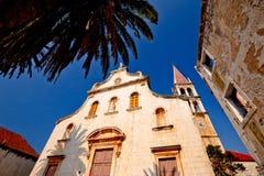 Historic church in Milna on Brac island Stock Photos
