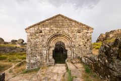 Historic church in Monsanto Portugal. Beautiful historic church in Monsanto Portugal in the afternoon on a cloudy day Stock Images
