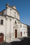 Historic church of Monte Sant'Angelo. Puglia. Royalty Free Stock Photography