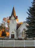Historic church nearing sunset Royalty Free Stock Photos