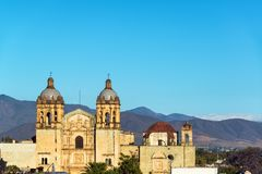 Historic Church in Oaxaca. View of historic Santo Domingo church in Oaxaca, Mexico Stock Photography