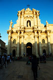 Historic church in Ortigia, Sicily stock photo