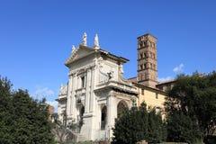 Historic church at Roman Forum Stock Image