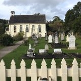Historic church, Russell, New Zealand. Historic oldest church and graveyard in Russell, New Zealand Stock Photography