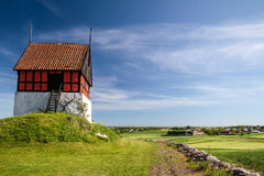 Historic church Ruts Kirke on Bornholm Royalty Free Stock Photography