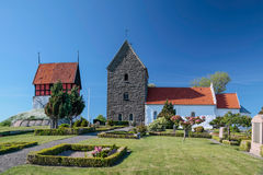 Historic church Ruts Kirke on Bornholm Stock Images