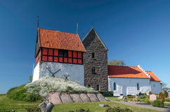Historic church Ruts Kirke on Bornholm Royalty Free Stock Images