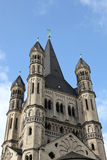 The historic church Saint Martin in Cologne Stock Images