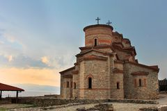 Historic church of Saint Panteleimon, Ohrid, Maced Stock Photos