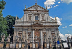 Historic church. Saints Peter and Paul Church in Krakow - Poland stock photos
