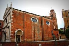 The historic church of San Sebastiano in Venice, Italy. The parish church of the great artist Veronese.  Stock Photography