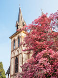 Historic church in spring Stock Photography
