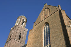 Historic church tower Peperbus, city Zwolle Stock Image