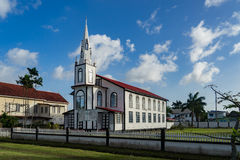 Historic churvh around Georgetown, Guyana. Avenue of the Republic - Views around Georgetown the capital city of Guyana Royalty Free Stock Photo