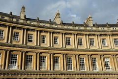 The Historic Circus in Bath England. Terraced Georgian Era Luxury Townhouses Royalty Free Stock Photography