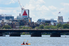 Historic Citgo sign from the Charles River Stock Photos