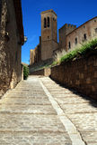 Historic city Artajona. In northern Spain Royalty Free Stock Images