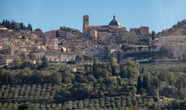 The City of Assisi royalty free stock photography