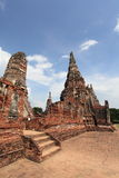 Historic City of Ayutthaya - Wat Chai Wattanaram Royalty Free Stock Photos