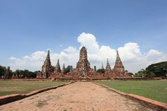 Historic City of Ayutthaya - Wat Chai Wattanaram Stock Photography