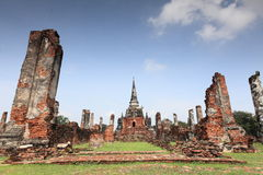 Historic City of Ayutthaya - Wat Phra Si Sanphet Royalty Free Stock Images