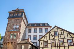 Historic city bensheim in hesse germany with whine vineyards. The historic city bensheim in hesse germany with whine vineyards royalty free stock photos