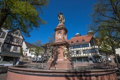 Historic city bensheim in hesse germany with whine vineyards. The historic city bensheim in hesse germany with whine vineyards stock image