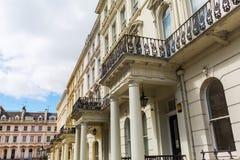 Historic city buildings in Kensington, London Stock Image