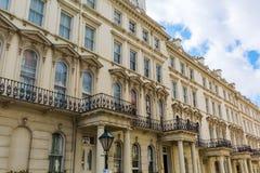 Historic city buildings in Kensington, London Stock Photos