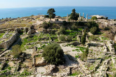 Historic city of Byblos in Lebanon Royalty Free Stock Images