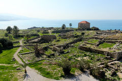 Historic city of Byblos in Lebanon Stock Photos