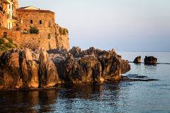 Historic city of Cefalu,  mediterranean sea Stock Image