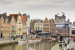 Historic city center, Gent Stock Images